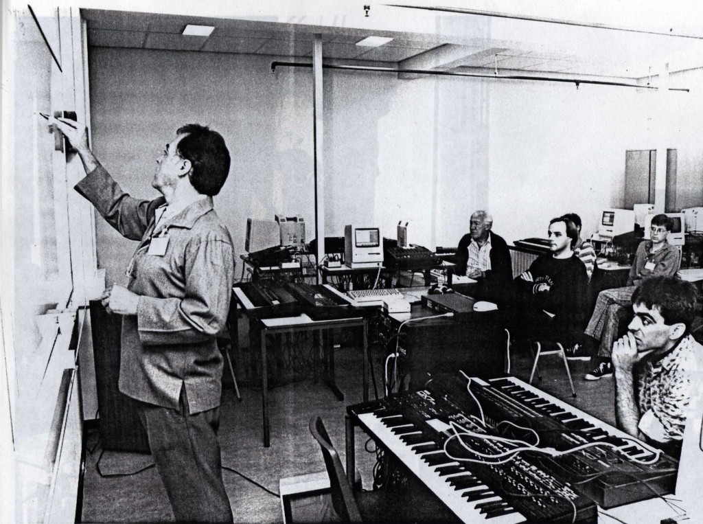John Chowning during his workshop FM-synthesis